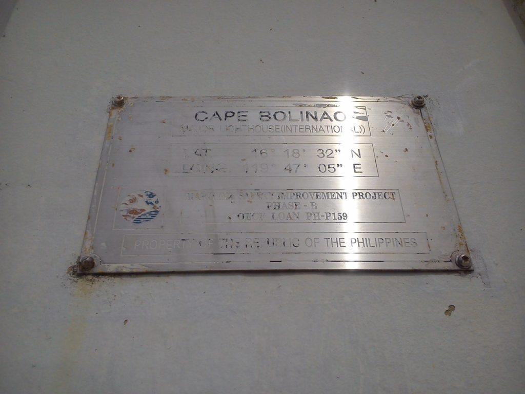 cape bolinao lighthouse plate tag