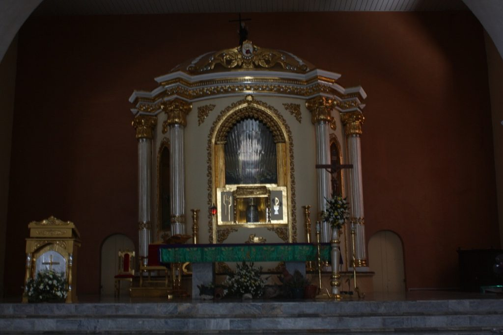 st james the great parish church altar and tabernacle, bolinao, pangasinan