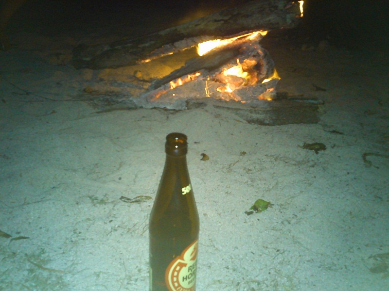 bonfire along the beach in bolinao