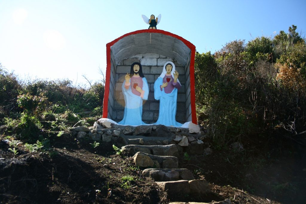Statues of Jesus and Mary