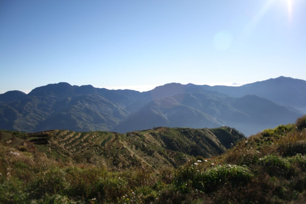 Tabayoc, Al-al, and Pulag seen from Mt. Timbak summit